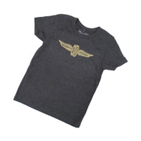Youth Wing and Wheel Grey Tee