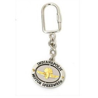 Indianapolis Motor Speedway Pewter Keychain