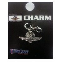 Wing Wheel and Flag Charm