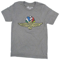 Wing Wheel and Flag Grey Weathered Triblend T-Shirt
