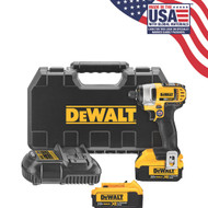 "20V MAX Li-Ion 1/4"" Impact Driver (4.0Ah) w/ 2 Batteries and Kit Box"