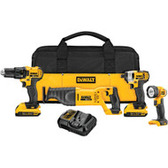20V MAX 4 Tool  w/ 2 Batteries (2.0Ah) and Bag