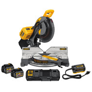 "120V MAX FLEXVOLT 12"" Dual Bevel Mitre Saw Kit w/ 2 Batteries (6Ah), Dual Port Charger and DCA120 Adaptor"