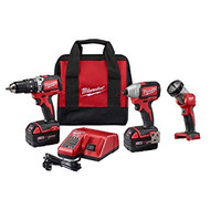 M18 18-Volt Brushless Lithium-Ion Cordless Hammer Drill/Impact Driver/Worklight Kit