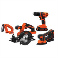20V MAX* Lithiuim Ion 4 Tool Combo Kit: Drill/Driver, Circular Saw, MOUSEå¨ Detail Sander and Light