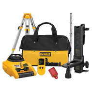 Self-Leveling Crdls Rotary Laser Level w/kit & Laser Detector, tripod - Horizontal only