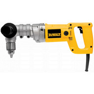 """1/2"""" 3-spd 400/600/900 rpm Right Angle Drill 7.0A Keyed Chuck"""