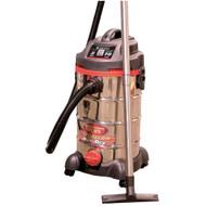 Wet/Dry Vacuum, Stainless,10 Gallon, 5 Peak HP