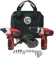 Combo kit, Drill & Impact Driver, Cordless, 12V Li-ion