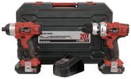 Combo kit, Drill & Impact Driver, Cordless, 20V Max Li-ion