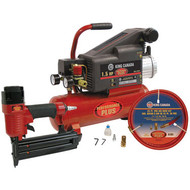"Air Compressor, 2"" Nailer, 25' Hose kit"