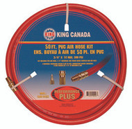 "Air Hose, 3/8"" x 50', 300 PSI, PVC w/ couplings"