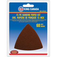 Sanding Paper kit, 60 Grit,15 pc