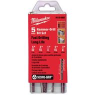 3-Flat Secure-Gripª Hammer Drill Bit Set (5 Pc)