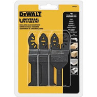 Dewalt Dwa4215 Oscillating 3-Piece Set, 1 Wood With Nail Blade, 1 Detail Blade, 1 Fast Cut Wood Blade