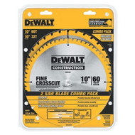 "2 Pack 10"" 32/60 Tooth Construction Circular Saw Blades"