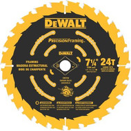 Dewalt Dw3599B10 Ultra Thin Kerf 7-1/4-Inch 24 Tooth Framing Blade