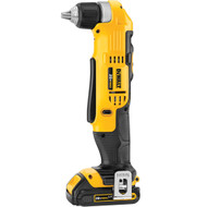 "20V MAX Li-Ion Compact 3/8"" Right Angle Drill/Driver (1.5Ah) w/ 1 Battery and Kit Box"