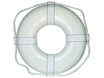 "Life Ring Buoy 30"" White Cal June - 58-GW30"