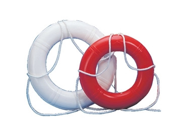 "Life Ring Buoy 30"" Orange Dock Edge Hard Shell - 686-55233F"