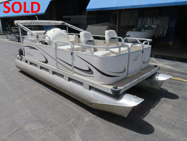 Used 2008 GillGetter 615  Fish N Cruise Electric Pontoon Boat - SOLD