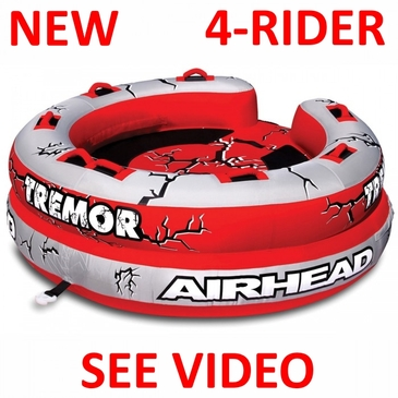 AIRHEAD Tremor Inflatable Towable Tube 4 Person Rider Boat AHTM-4