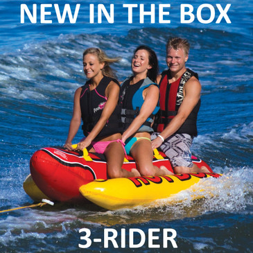 Airhead HD-3 Hot Dog 3 Triple Rider Towable Inflatable Boat Ski Tube Float