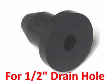 Pedal Paddle Boat Replacement Rubber Drain Plug - 1/2""