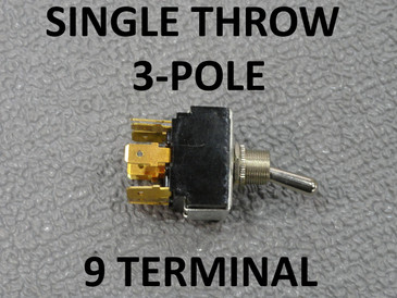 Single Throw 3 Pole Boat Master Light Control Switch 9 Terminal Triple Circuit