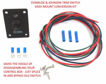 Trim Tilt Switch Conversion Kit Johnson Evinrude 176530 395821 174285 Dash Mount