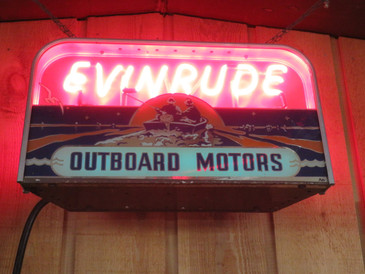 Antique Evinrude Neon Sign from the 1940's