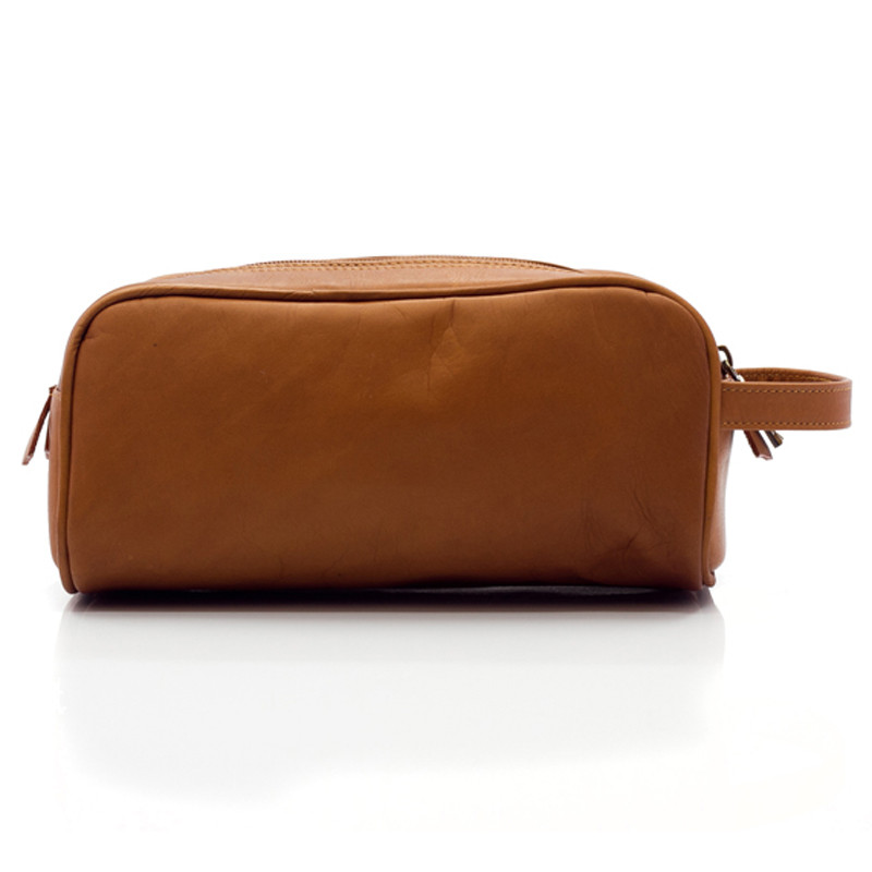 Muiska - Tomas - Classic Leather Dopp Kit handcrafted from fine Colombian leather