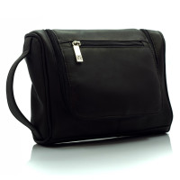 Muiska - Mateo - Hanging Leather Dopp Kit in Black