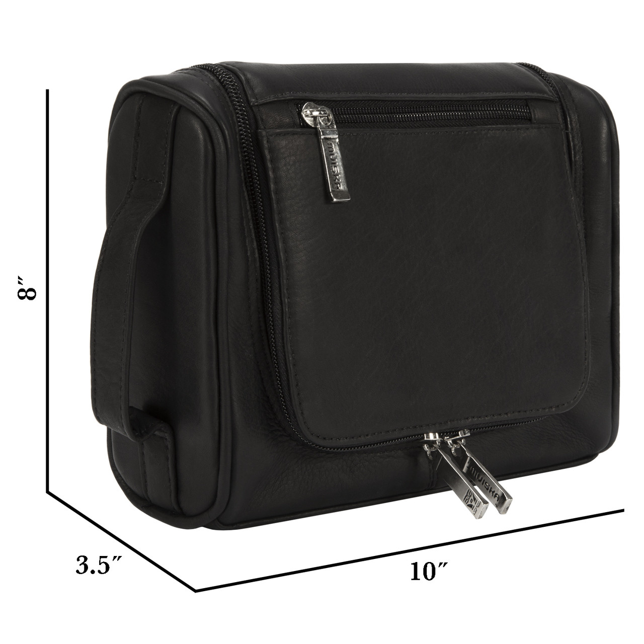 Muiska - Mateo - Hanging leather Toiletry Bag is the perfect size to fit in your suitcase