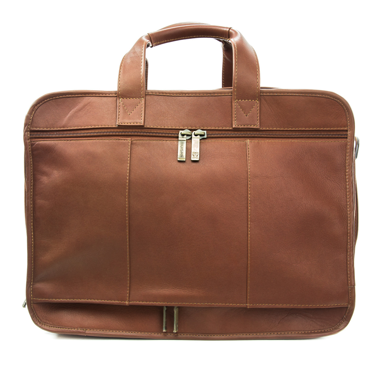 "Muiska - Madrid - 17"" Triple Gusset Business Case easily secures  to carry on luggage handle"