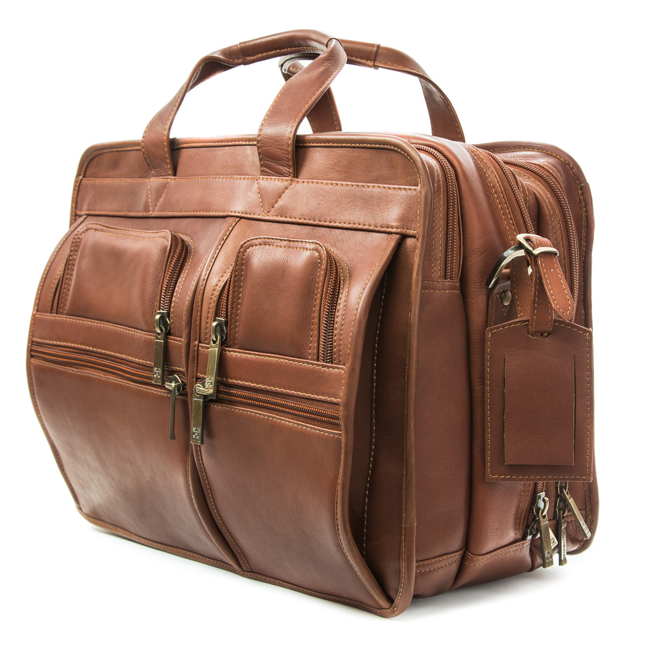 Muiska - Madrid - 17-inch Triple compartment Laptop Briefcase features four outside pockets