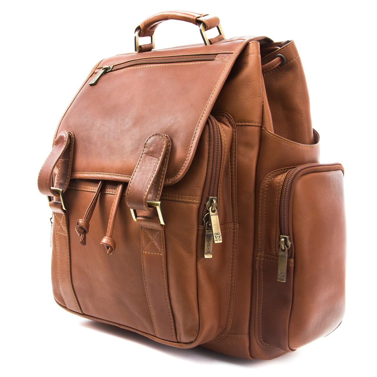 Muiska - Brooklyn - Leather Laptop Backpack is perfect for business or pleasure