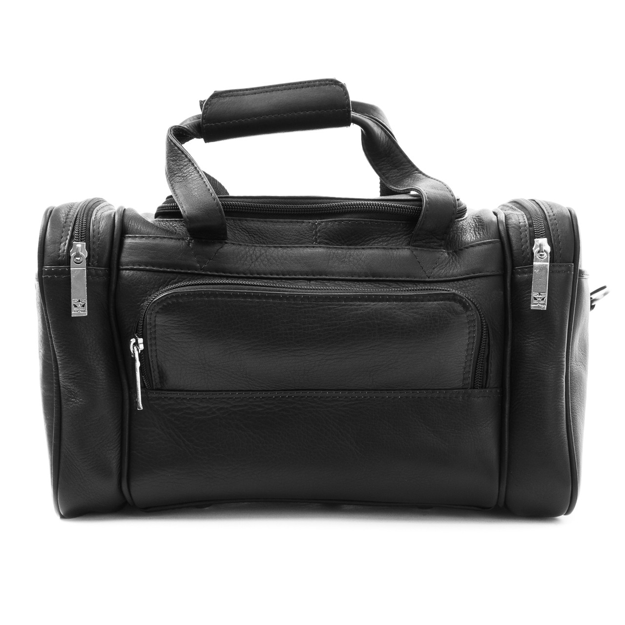 Muiska - Marco - Small Sport Leather Duffel Bag  in Black