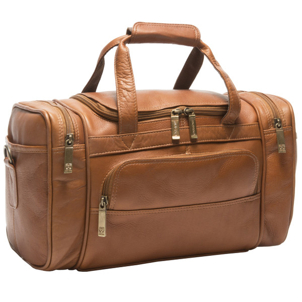 Muiska - Marco - Small Sport Leather Duffel Bag in Saddle / Honey