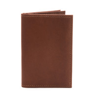 Carlo - Business and Credit Card Case Wallet - Front View, Saddle