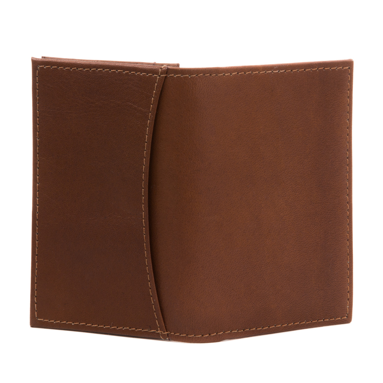 Carlo - Business and Credit Card Case Wallet - Back View, Saddle