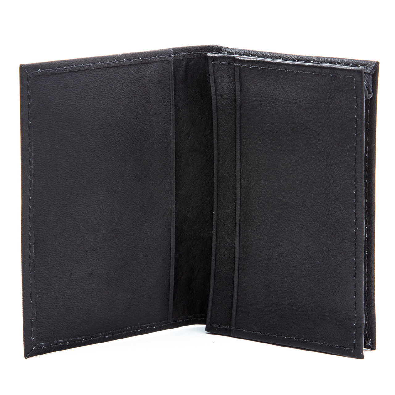 Carlo - Business and Credit Card Case Wallet - Open Front View, Black