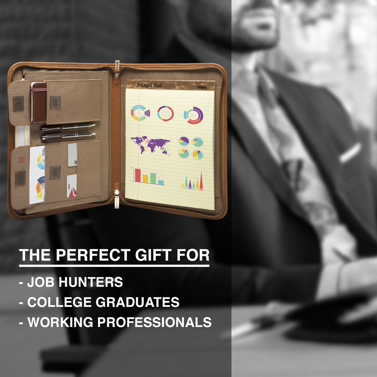 Muiska - Prague - Zip Around  Portfolio makes a perfect gift for job hunters, recent graduates, and working professionals