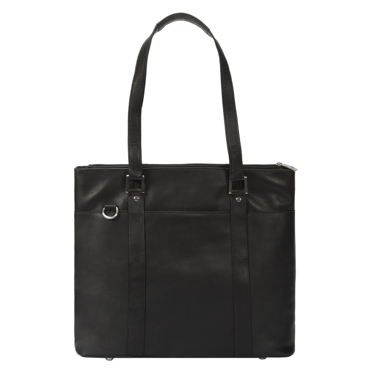 Muiska - Taipei - 15.4-inch laptop commuter tote bag - black leather