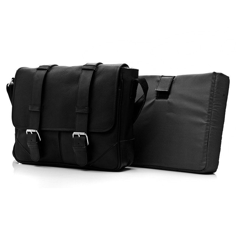 Muiska - Dublin - Unisex 15 inch Leather Laptop Bag includes a removable padded laptop case.