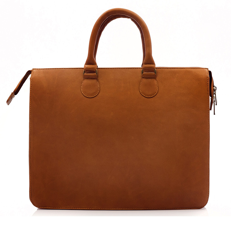 Muiska - Monica - Women's Slim Laptop Tote Bag - handcrafted of fine Colombian leather
