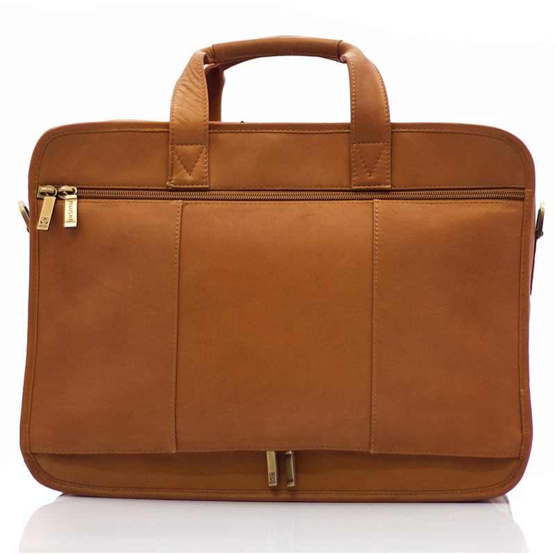 Muiska - New York - Organizer Laptop Business Brief - double zippered back to slide over carry-on luggage handle