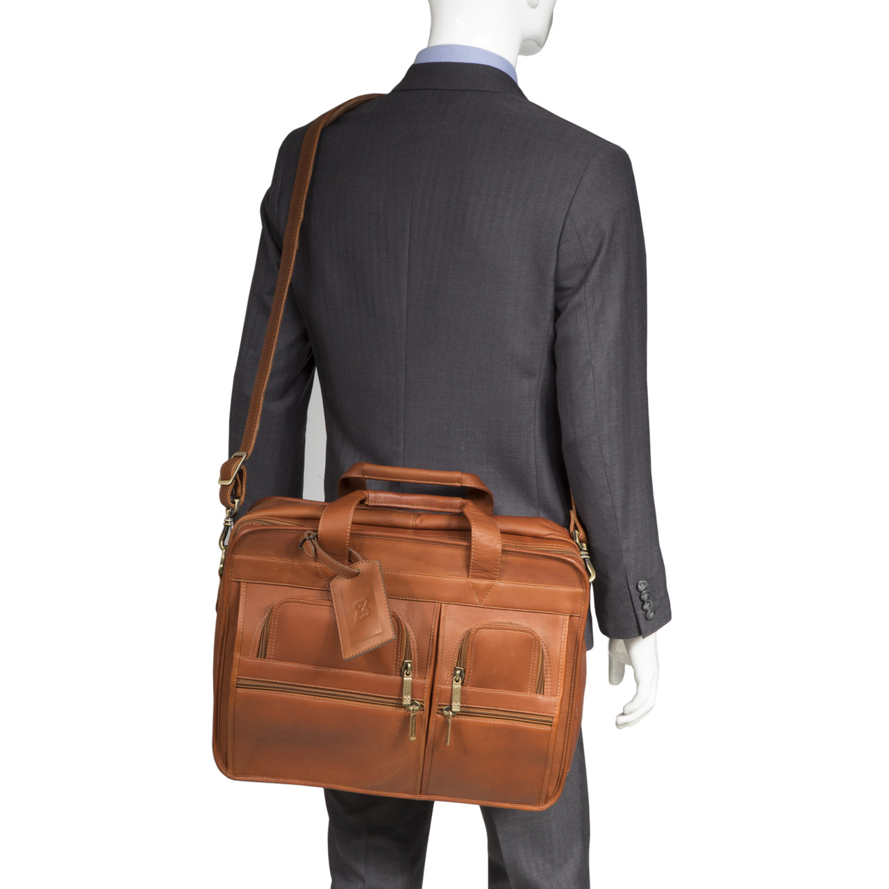 Muiska - New York - Leather laptop Briefcase is expertly handcrafted from the finest Colombian leather