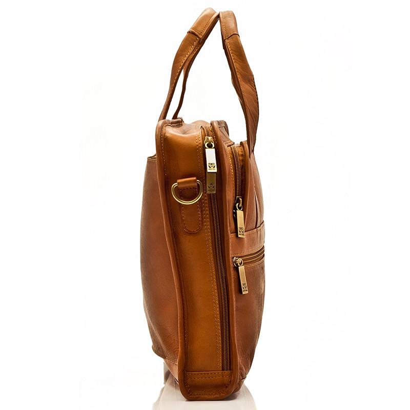 Muiska - Milan - Slim Laptop Bag comes with a detachable all leather adjustable shoulder strap