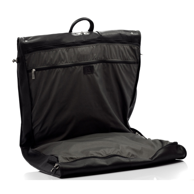 Havana - Carry All Garment Bag - Side Open View, Black